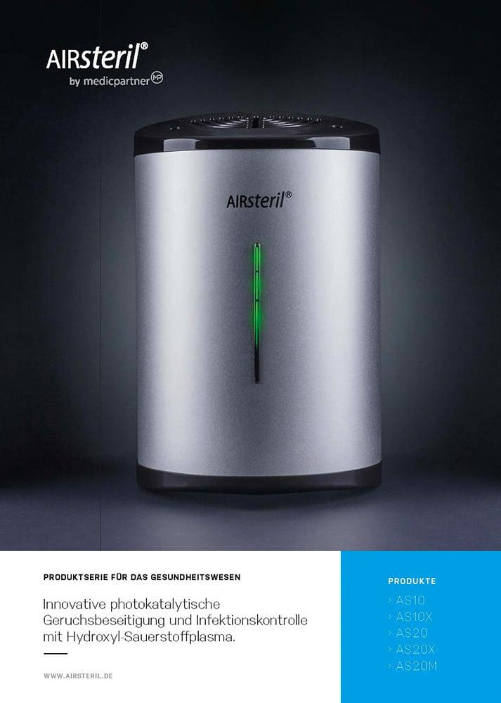 Produktinformation Titelblatt AIRsteril AS Serie