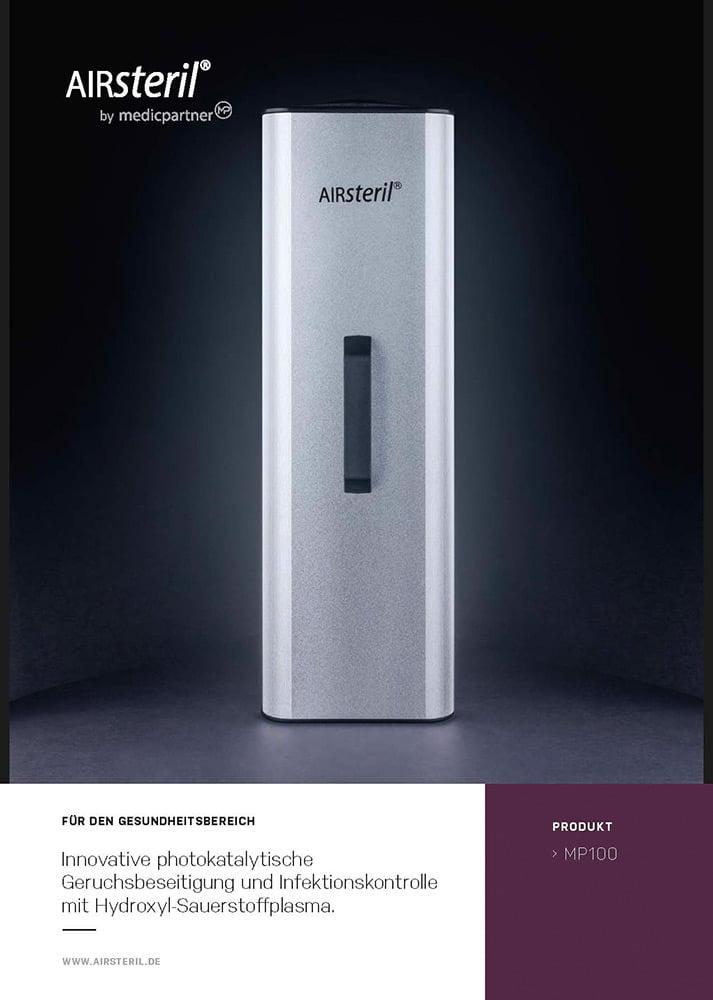 AIRsteril Produktinformation Titelblatt MP100 Dekontaminierungseinheit