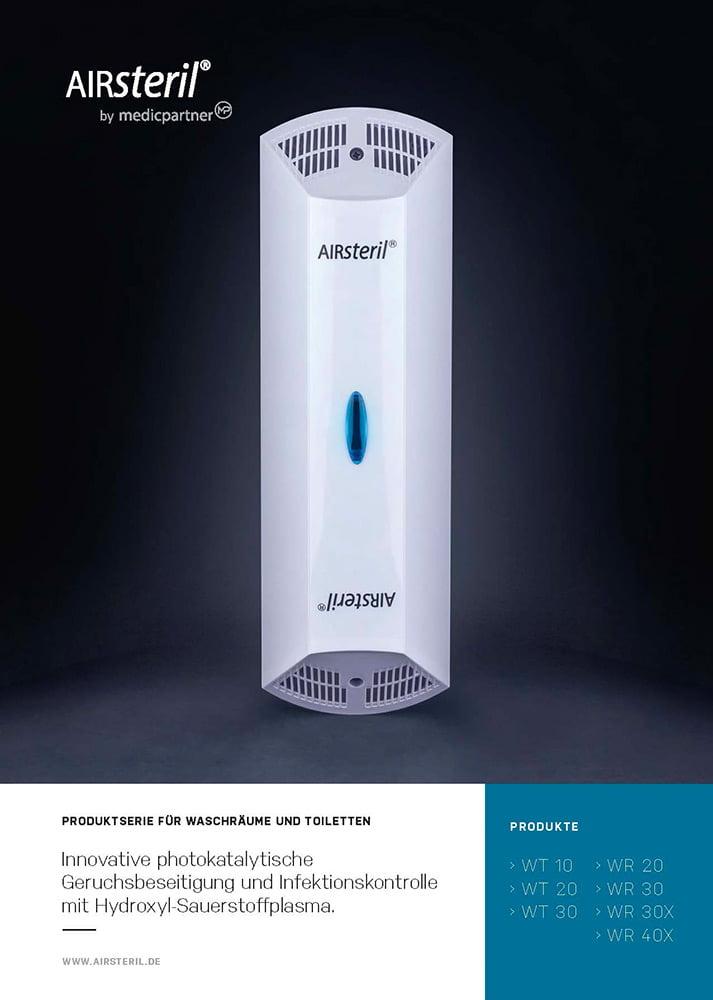 Produktinformation Titelblatt AIRsteril WT WR Serie