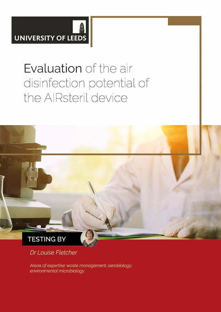 Titelblatt Studie Desinfektion AIRsteril